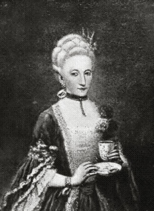 Replica of a portrait of younger Marina by Pietro Longhi