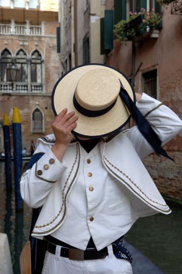 The gondoliera in Venice