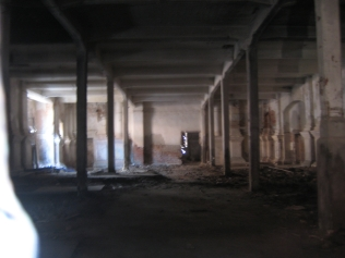A peek into the interior, which is in much disrepair