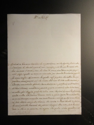 Replica of report Casanova filed when he worked as a spy for the state