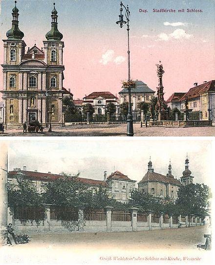 440px-Duchcov_Castle_c._1900