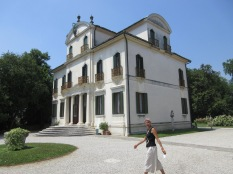 Villa Widmann with our guide out front