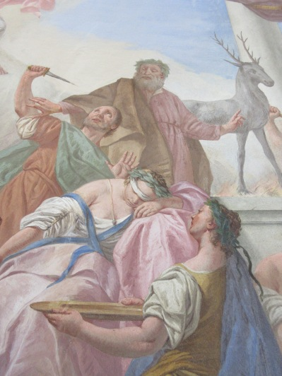 Lovely airy frescoes at the Widmann