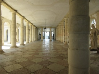 The passageway from entrance to rear gardens