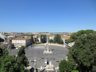 ...to enjoy this view from the edge of the Villa Borghese
